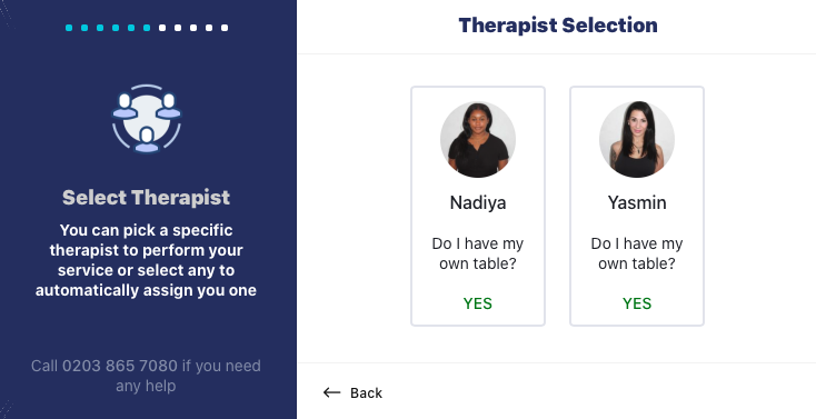 OnDemand form choose your therapist